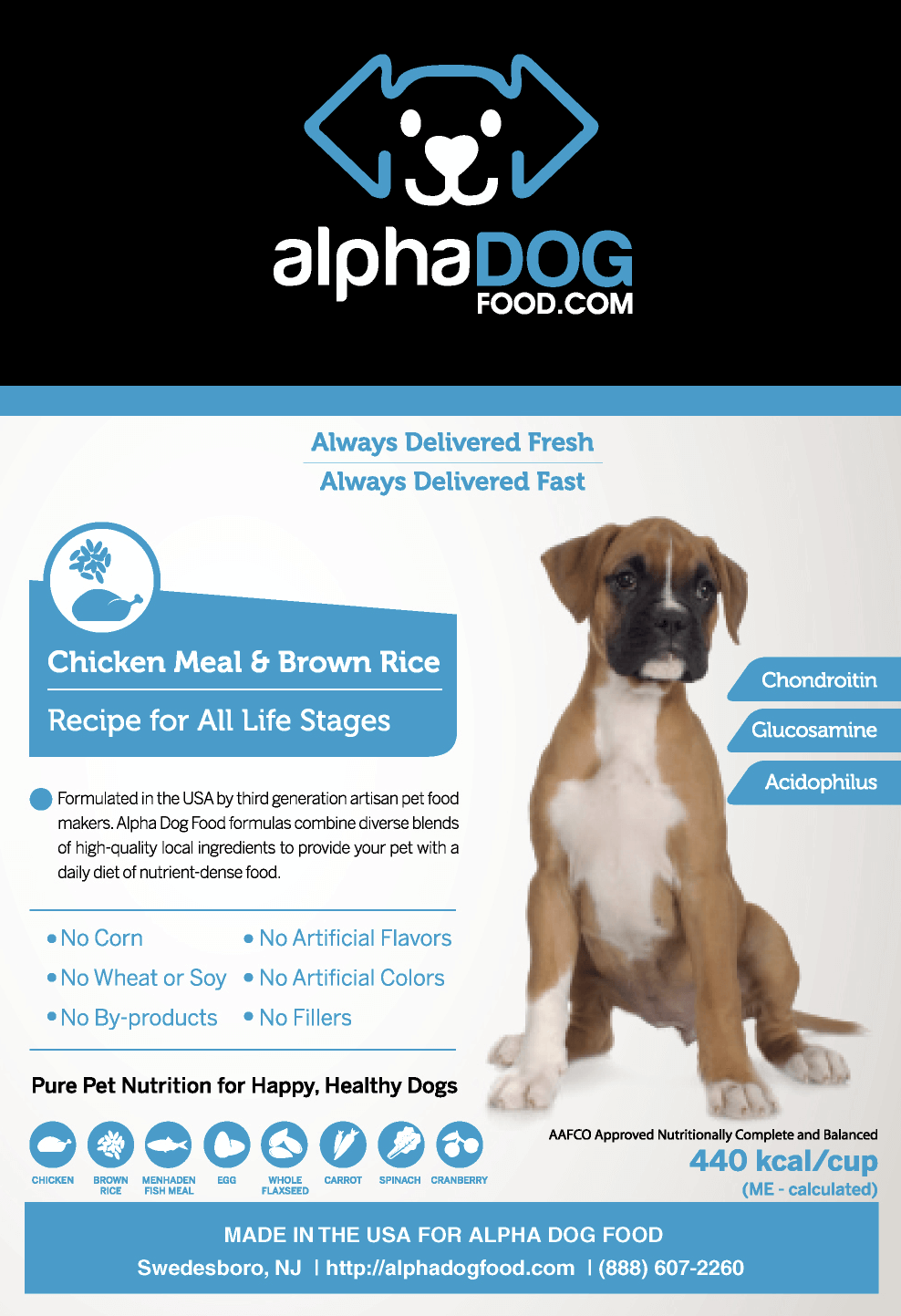 Chicken meal dog food bulk breeder bags